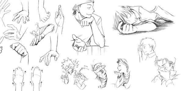 How To Draw Manga Hands