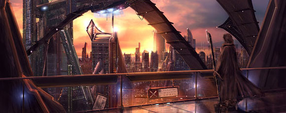 40 Digital Fantasy Art Concepts Depicting Futuristic Cities and Structures