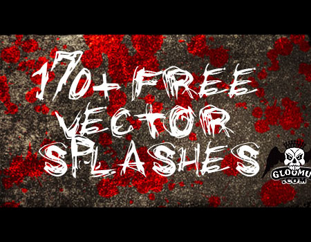 170+ Free Vector Splashes by Gloomus