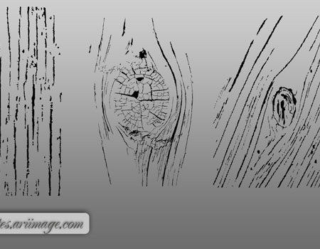 3 Woodgrain photoshop Shapes by ariimage