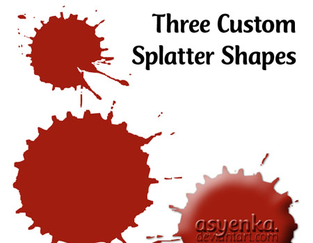 3 custom Splatter Shapes by asyenka