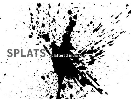 7 Splat - Splattered India Ink by halo-monk