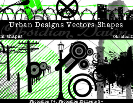 31 Urban Designs Custom Shapes by redheadstock