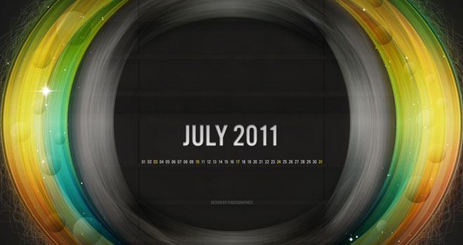 July 2011 Wallpaper Set by fudgegraphics