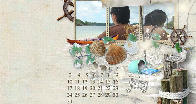 Desktop Calendar by Pam Junsay