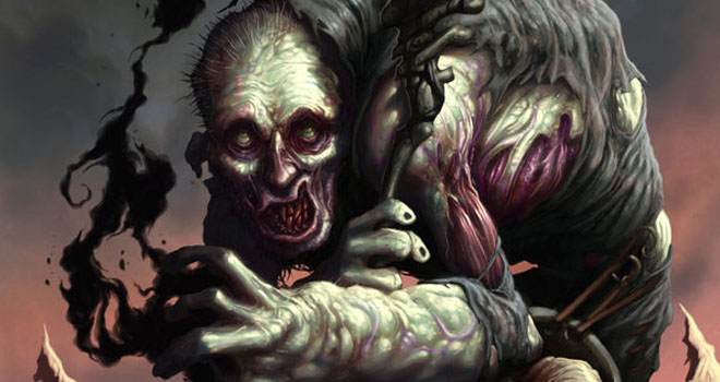 Zombie Wizard Token by Dave Allsop