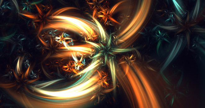 Flowers Fractal Art by Silfrith