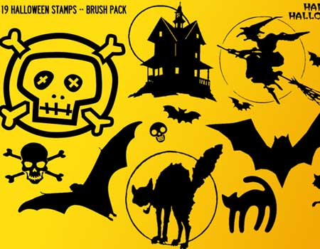 19 Halloween Stamps Brush Pack