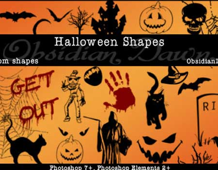 33 Halloween Custom Shapes