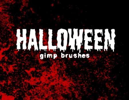 16 Halloween GIMP Brushes