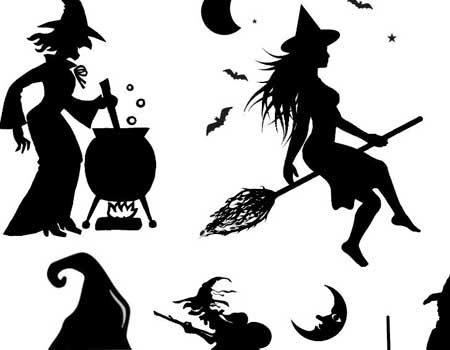 Witch And Halloween Brushes