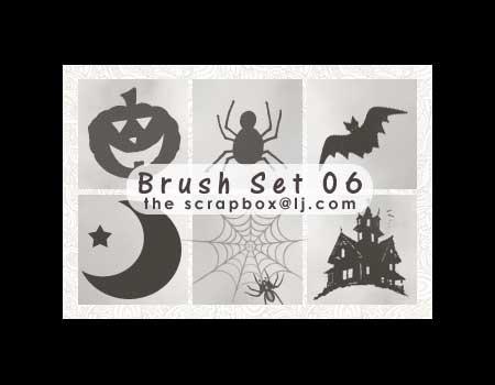 34 Halloween Brushes