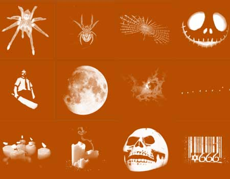 19 High Resolution Halloween Brushes