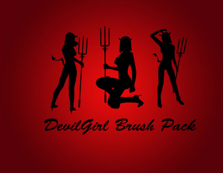 24 Sexy Devil Girl Brush Pack
