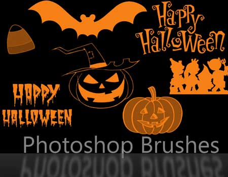 7 Halloween Brush Set