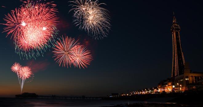 Fireworks, Blackpool, England by Laimonas S.