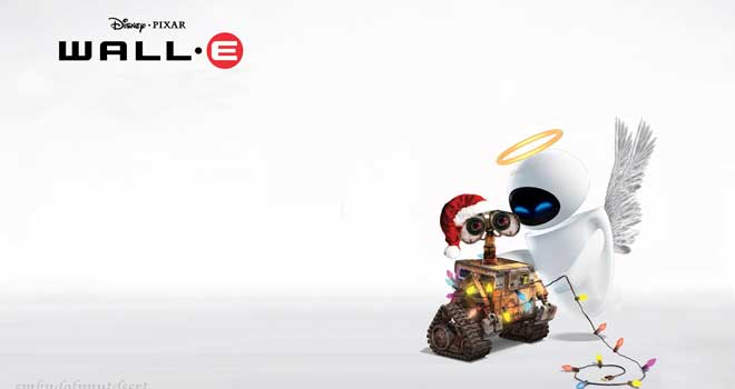 WALL-E Christmas Wallpaper