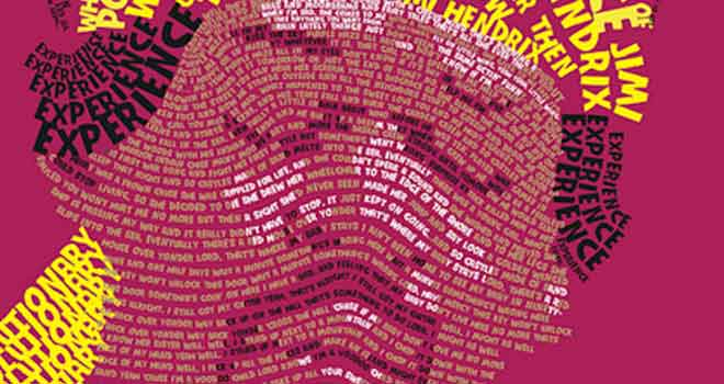Jimi Hendrix Typography Poster by Marcus Mackey