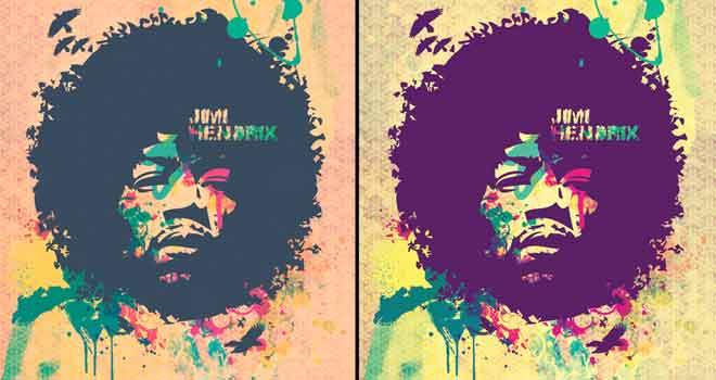 Hendrix Pastel Poster by ~vhenomenon
