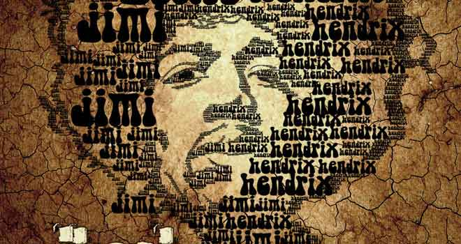 Jimi Hendrix Typography Mod by ~timonna