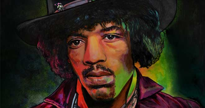 Jimi Hendrix Portrait by Chris Hoffman