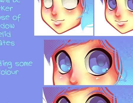 Superb Collection Of Anime And Manga Eyes Tutorials And More Ninja Crunch Hairstyles For Women Draintrainus