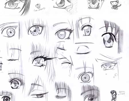 Manga Eyes Lineart Reference