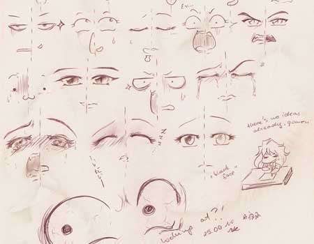 Manga Face Expression Set