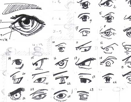 Reference: Manga eyes