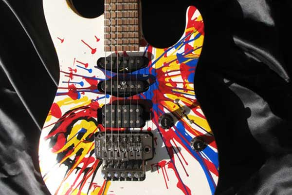 Painted Axe Custom-painted Guitars, Michael Gauf