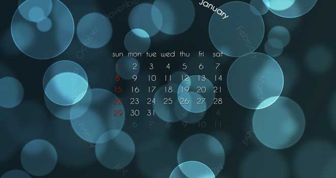 Desktop Calendar Wallpaper 2012 January