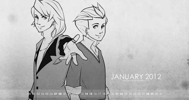 January 2012 Desktop Wallpaper