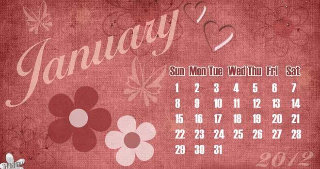 2012 Calendar Wallpaper