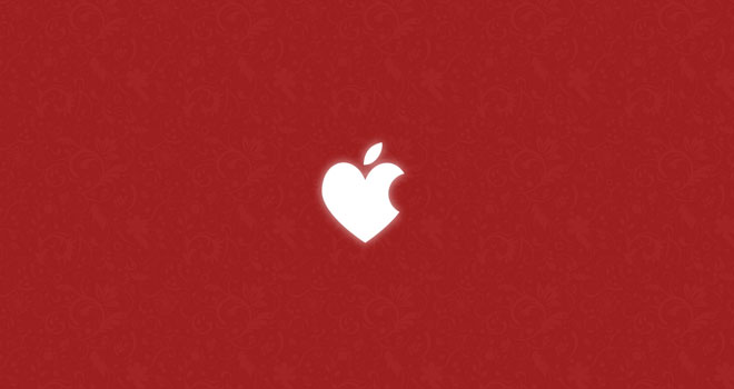 Valentine's Apple Wallpaper by ~KedziGFX