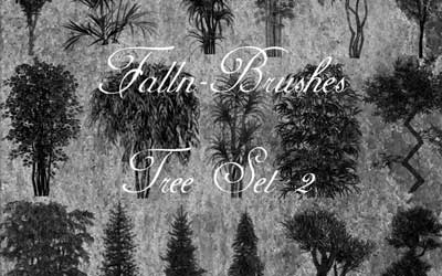 Trees Brushes Set