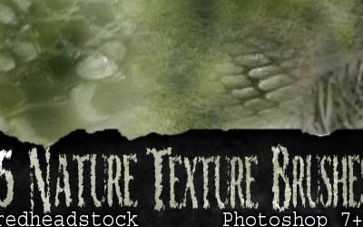 15 Nature Textures GIMP Brushes