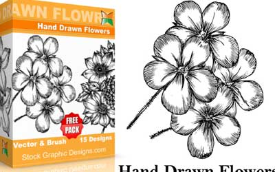 Free Flowers Pack - Brush