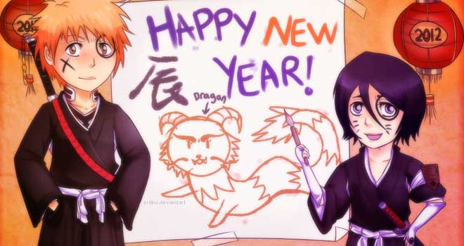Happy New Year 2012 Bleach Chibi, =Oriibu