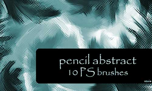 10 Pencil Abstract Brushes by szuia