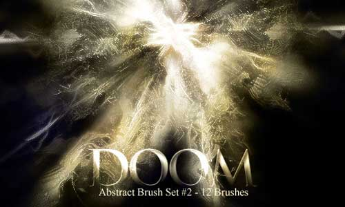 12 Doom Abstract Brush Set 2 by Nicholas Tong Wei Jie