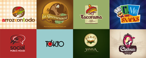 you a fresh new idea with these restaurant and dining logo designs