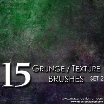 15 Grunge and Texture Brushes by Art Institute Stock Photos