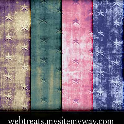 Grunge Star Patterns by WebTreatsETC
