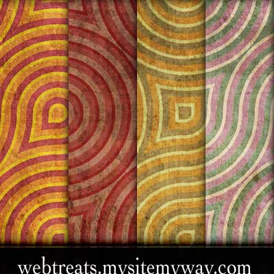 10 Retro Grunge Wallpaper Pattens by WebTreatsETC