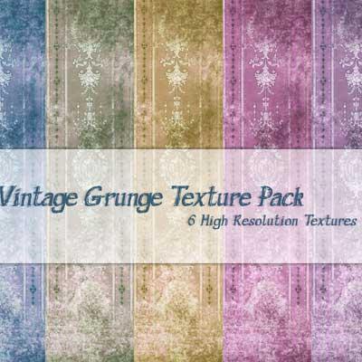6 Hi-Res Vintage Grunge Texture Pack by powerpuffjazz