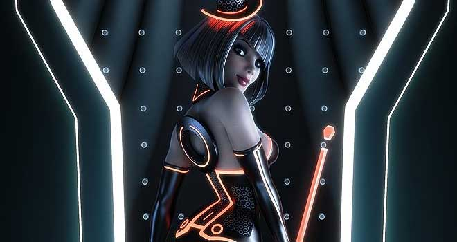 TRON Pinup by Andrew Hickinbottom