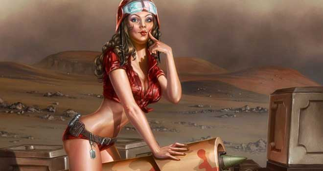 Martian Pinup, ImagineFX Cover by Henning Ludvigsen