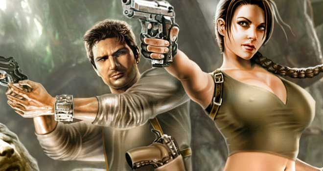Lara Croft and Nathan Drake by Raf Marinetti