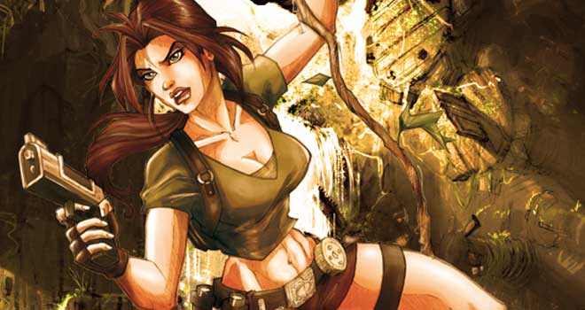 Lara Croft Colored by Rosa la Barbera