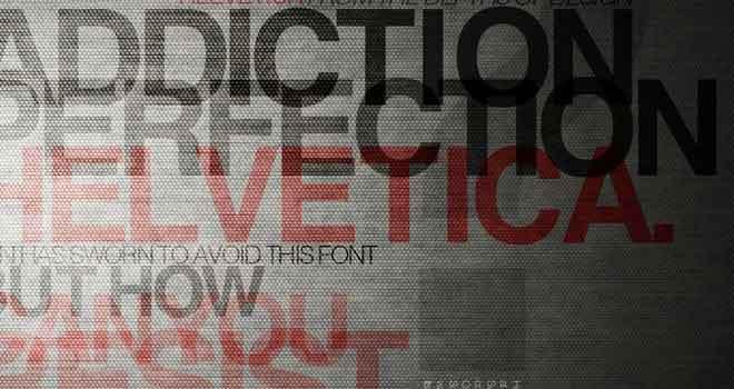 Helvetica Typeface Poster by Aleksandar Antonijevic